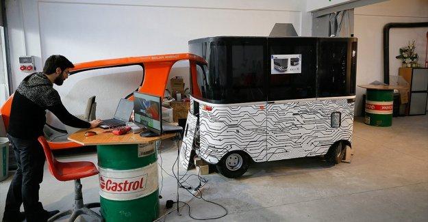 Yerli sürücüsüz elektrikli araç yola çıkmaya hazır