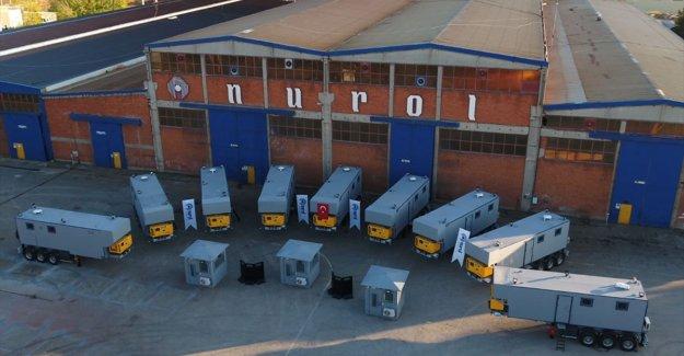 Emniyet güçlerine mobil zırhlı konteyner