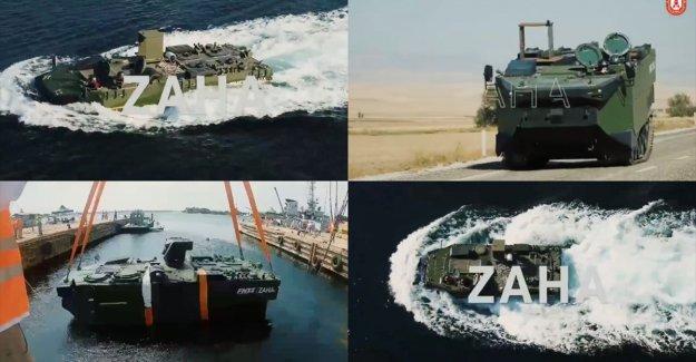 Deniz piyadesinin yeni aracı ZAHA'nın testlerinde bir aşama daha geçildi