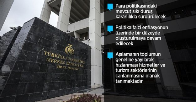 Merkez Bankası politika faizini yüzde 19'da sabit bıraktı