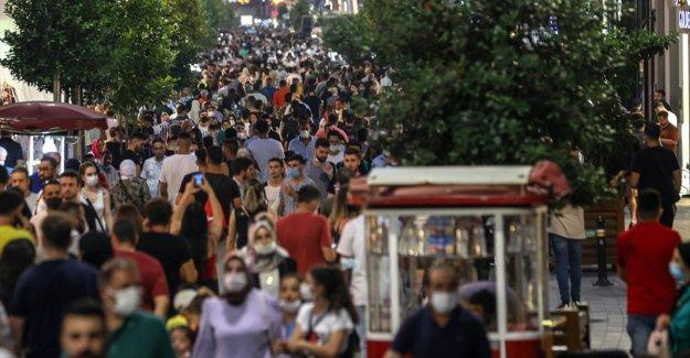 Türkiye nüfus büyüklüğüne göre sıralamada 19'uncu sırada