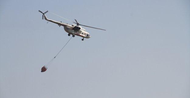 Tunceli'deki orman yangına 2 helikopter ve 1 uçakla müdahale ediliyor