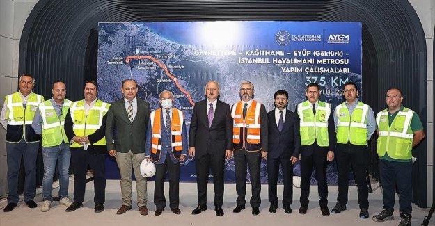 Bakan Karaismailoğlu: Kağıthane metrosunda ilk sinyalizasyon test sürüşlerini Kasım 2021'de başlatacağız
