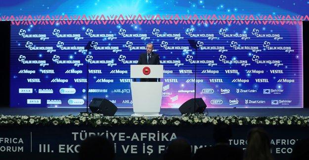 Cumhurbaşkanı Erdoğan: Hedefimiz Afrika ülkeleriyle ticaretimizi 75 milyar dolara taşımak